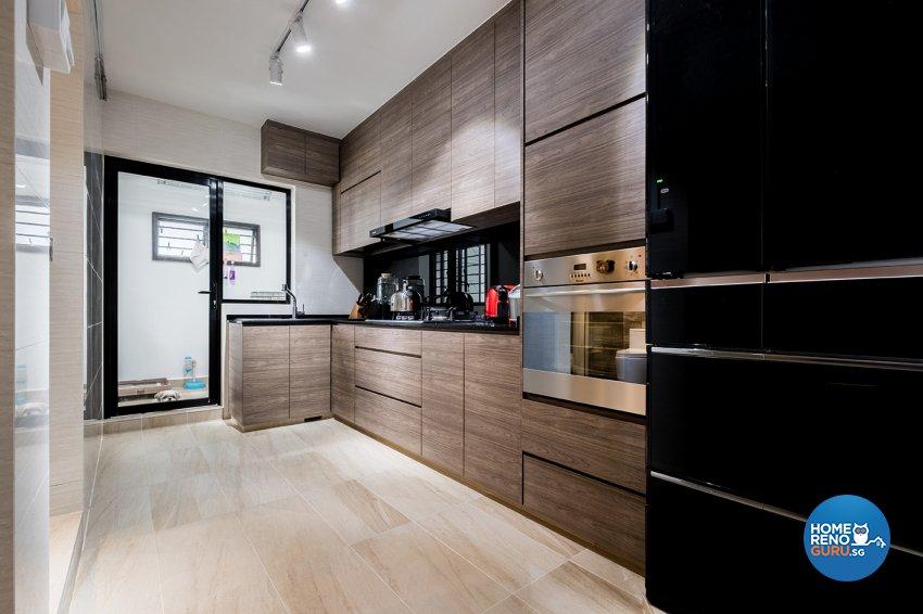Contemporary, Modern Design - Kitchen - HDB 5 Room - Design by DB Studio Pte Ltd