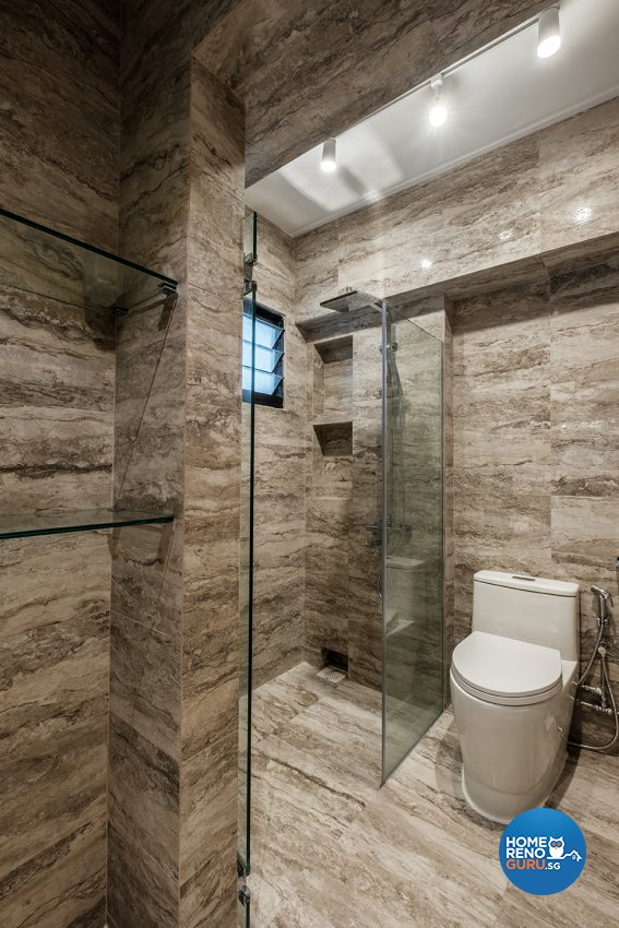 Contemporary, Modern Design - Bathroom - HDB 5 Room - Design by DB Studio Pte Ltd