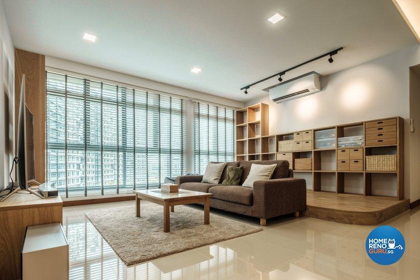 Minimalist Design - Living Room - HDB 5 Room - Design by DB Studio Pte Ltd