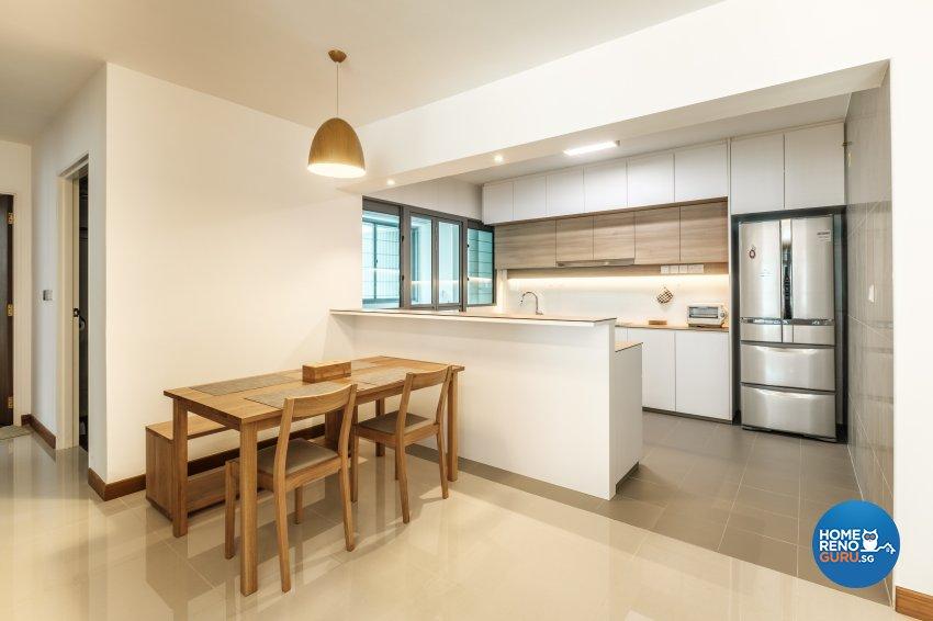 Minimalist Design - Kitchen - HDB 5 Room - Design by DB Studio Pte Ltd