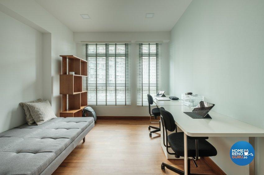 Minimalist Design - Study Room - HDB 5 Room - Design by DB Studio Pte Ltd
