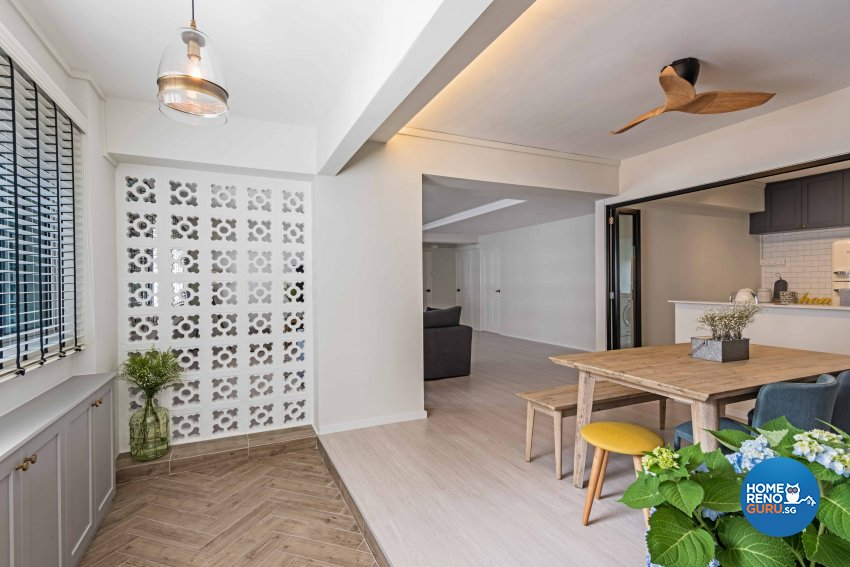 Country, Scandinavian Design - Balcony - HDB 5 Room - Design by DB Studio Pte Ltd