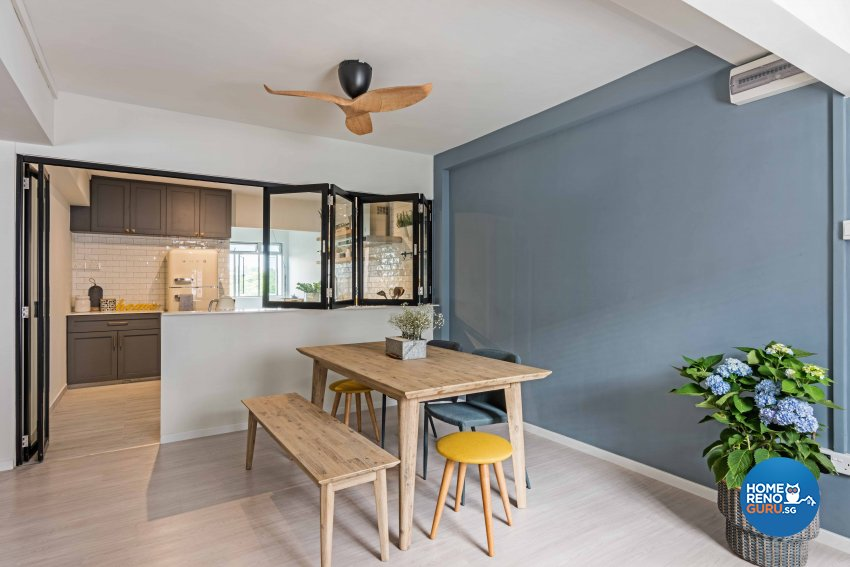Country, Scandinavian Design - Dining Room - HDB 5 Room - Design by DB Studio Pte Ltd