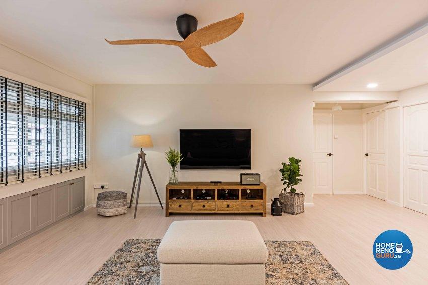 Country, Scandinavian Design - Living Room - HDB 5 Room - Design by DB Studio Pte Ltd