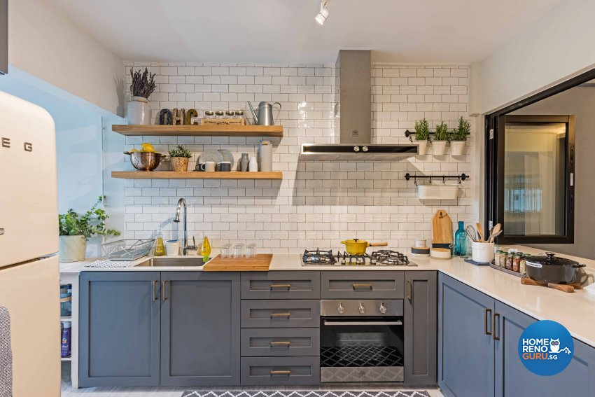 Country, Scandinavian Design - Kitchen - HDB 5 Room - Design by DB Studio Pte Ltd