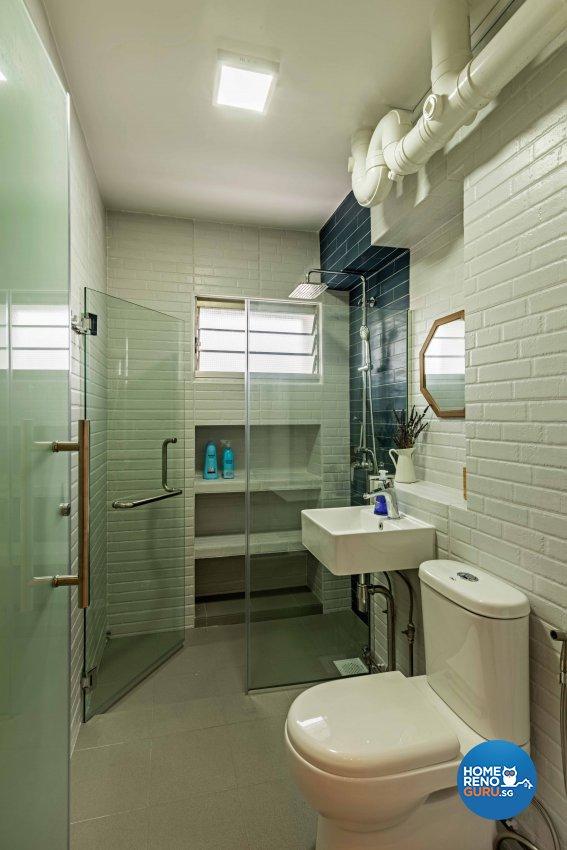Country, Scandinavian Design - Bathroom - HDB 5 Room - Design by DB Studio Pte Ltd