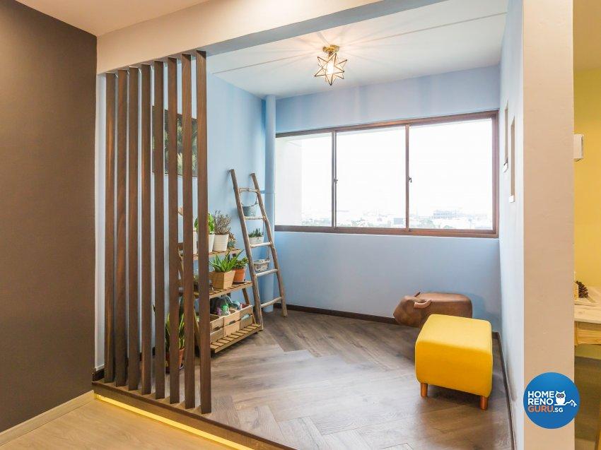 Contemporary Design - Balcony - HDB 5 Room - Design by DB Studio Pte Ltd