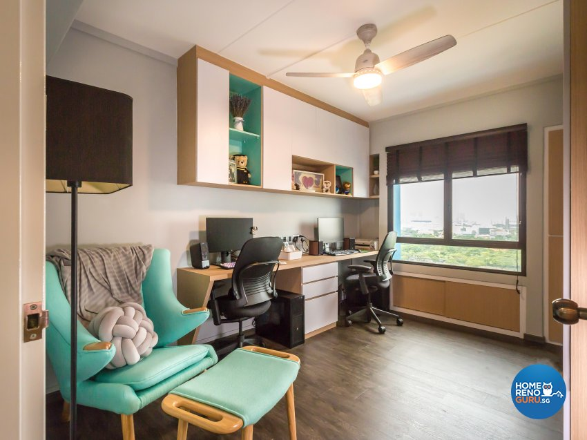 Contemporary Design - Study Room - HDB 5 Room - Design by DB Studio Pte Ltd