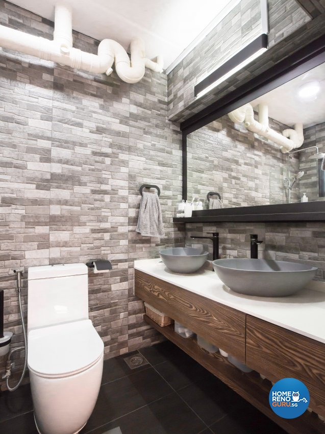 Contemporary Design - Bathroom - HDB 5 Room - Design by DB Studio Pte Ltd