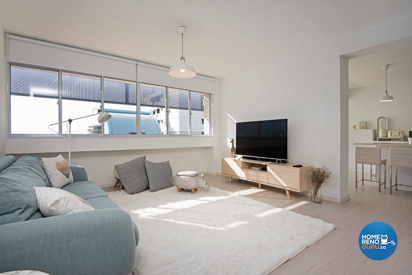 Minimalist Design - Living Room - HDB 5 Room - Design by DB Studio Pte Ltd
