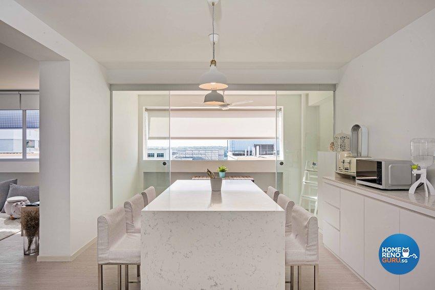 Minimalist Design - Dining Room - HDB 5 Room - Design by DB Studio Pte Ltd