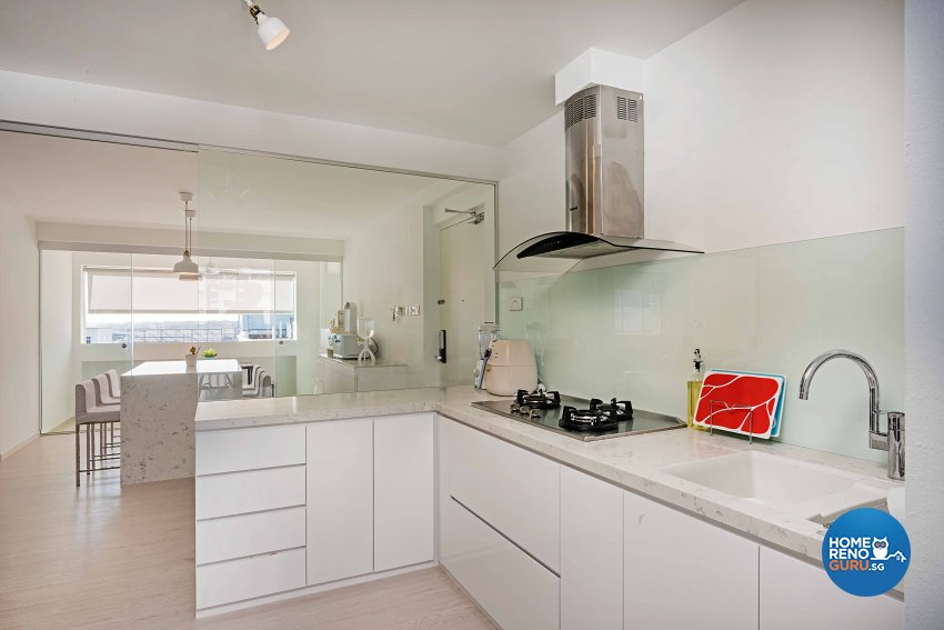 Minimalist Design - Kitchen - HDB 5 Room - Design by DB Studio Pte Ltd
