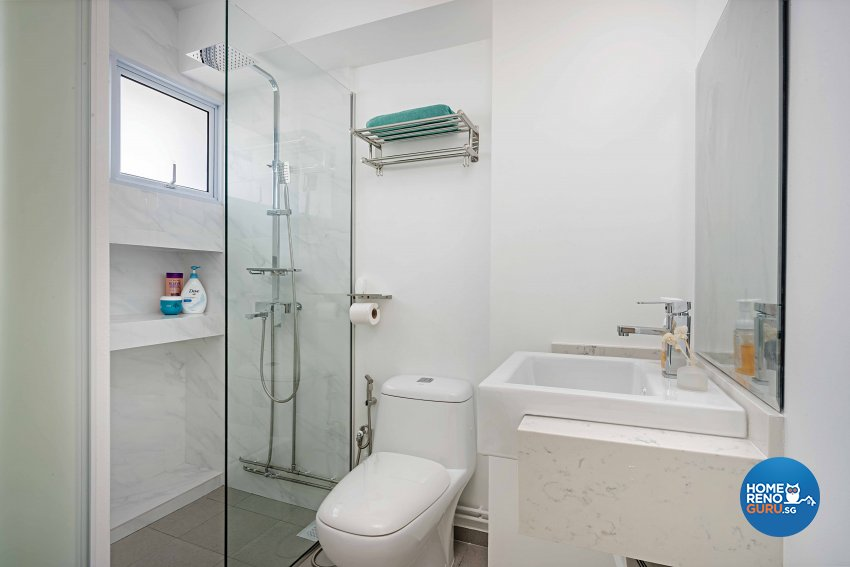 Minimalist Design - Bathroom - HDB 5 Room - Design by DB Studio Pte Ltd