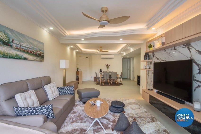 Contemporary Design - Living Room - Condominium - Design by DB Studio Pte Ltd