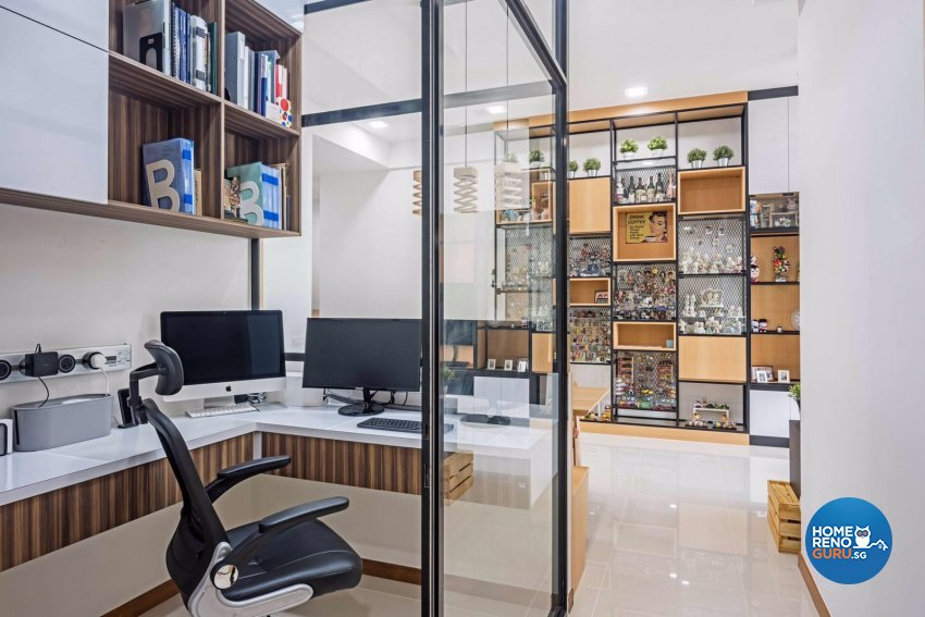Contemporary, Modern, Scandinavian Design - Study Room - Condominium - Design by DB Studio Pte Ltd