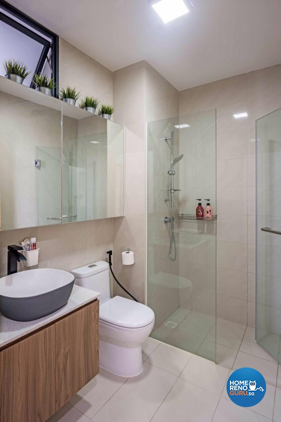 Contemporary, Modern, Scandinavian Design - Bathroom - Condominium - Design by DB Studio Pte Ltd