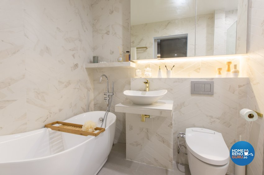 Classical Design - Bathroom - Condominium - Design by DB Studio Pte Ltd