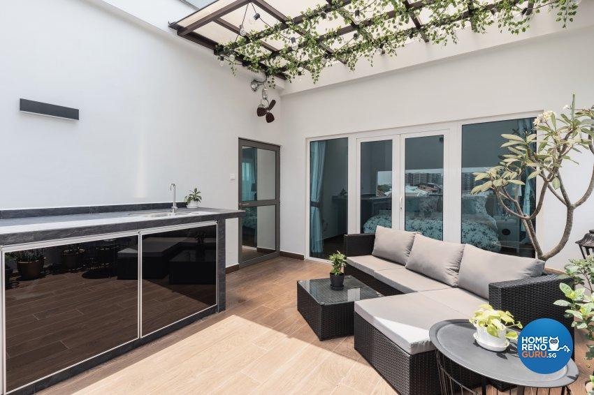 Contemporary, Minimalist, Modern Design - Balcony - Condominium - Design by DB Studio Pte Ltd