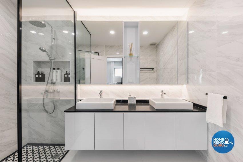 Contemporary, Minimalist, Modern Design - Bathroom - Condominium - Design by DB Studio Pte Ltd