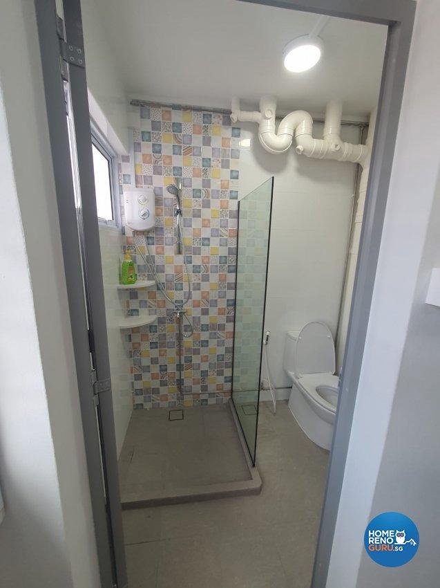 Contemporary, Modern Design - Bathroom - HDB 4 Room - Design by D'Brain Studio