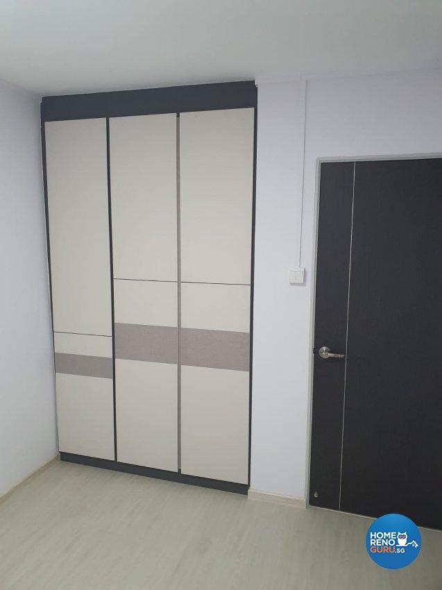 Contemporary, Modern Design - Bedroom - HDB 4 Room - Design by D'Brain Studio
