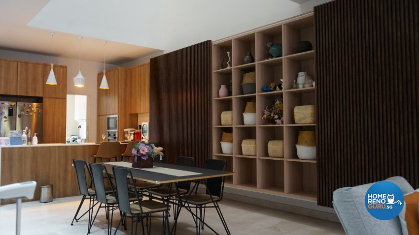 Contemporary, Modern Design - Dining Room - Landed House - Design by D'Brain Studio