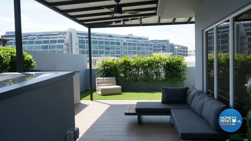 Contemporary, Modern Design - Garden - Landed House - Design by D'Brain Studio