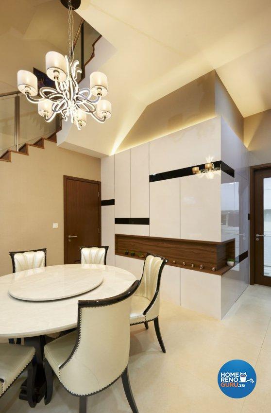 Contemporary, Modern Design - Dining Room - Landed House - Design by DC Vision Design Pte Ltd