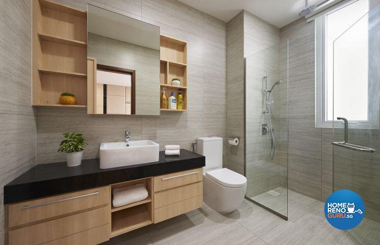 Contemporary, Modern Design - Bathroom - Landed House - Design by DC Vision Design Pte Ltd