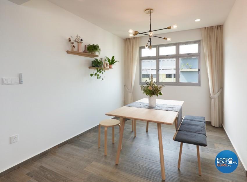Victorian Design - Dining Room - HDB 4 Room - Design by DC Vision Design Pte Ltd