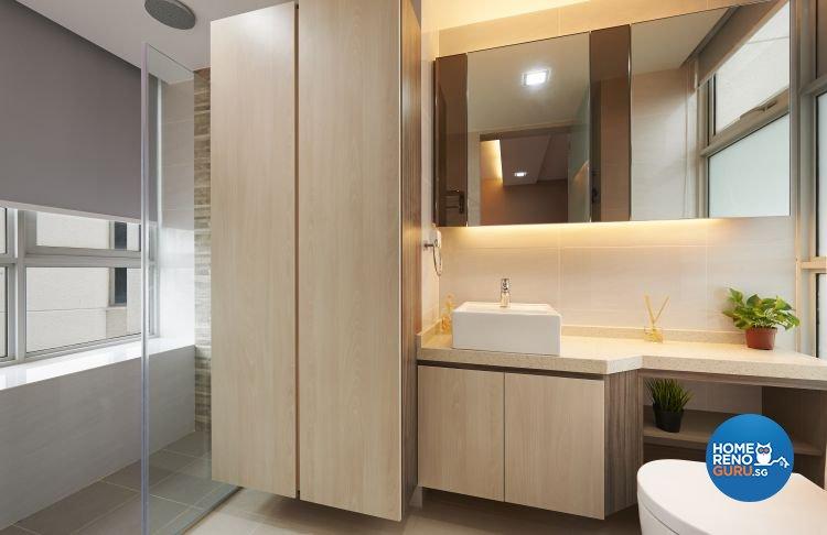 Contemporary, Modern Design - Bathroom - Condominium - Design by DC Vision Design Pte Ltd