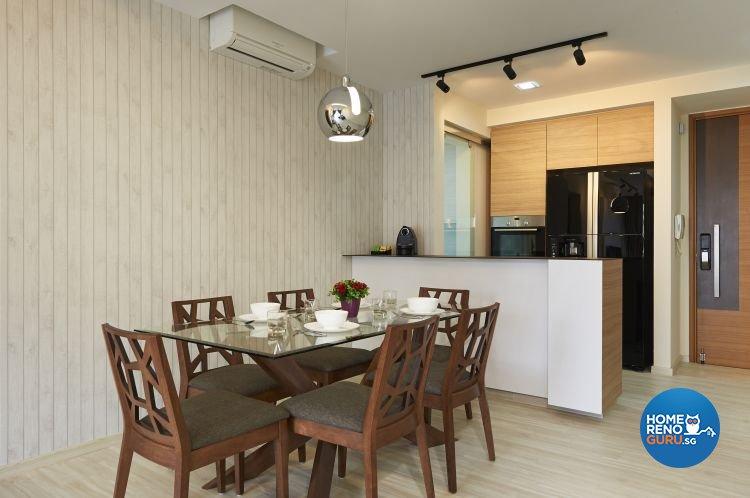 Contemporary, Modern Design - Dining Room - Condominium - Design by DC Vision Design Pte Ltd