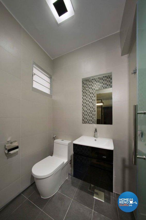 Contemporary Design - Bathroom - HDB 3 Room - Design by DC Vision Design Pte Ltd