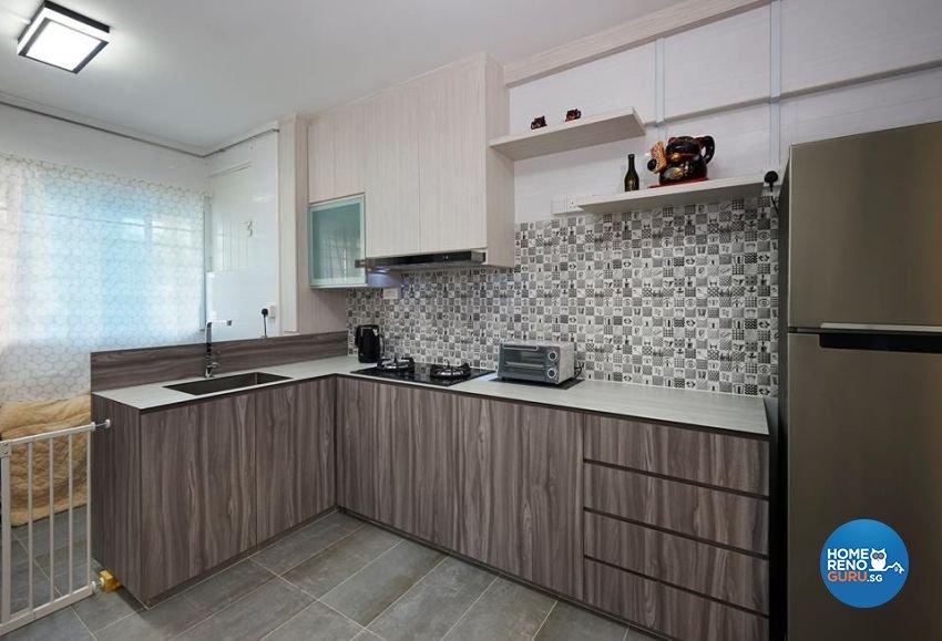 Contemporary Design - Kitchen - HDB 3 Room - Design by DC Vision Design Pte Ltd