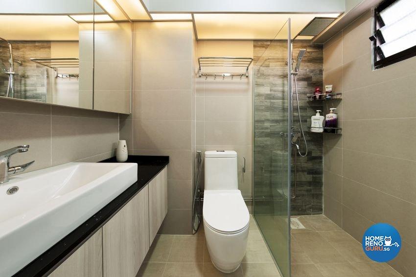 Contemporary, Modern Design - Bathroom - HDB 5 Room - Design by DC Vision Design Pte Ltd