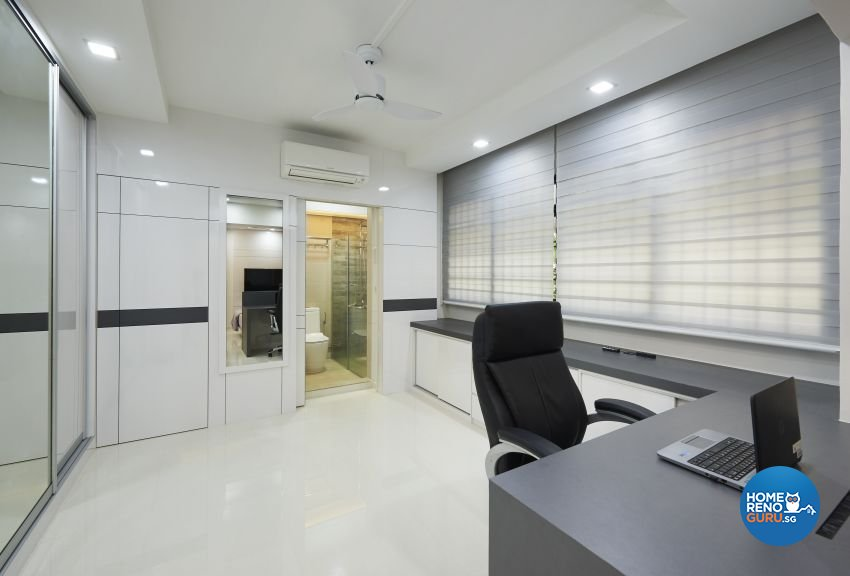 Contemporary, Modern Design - Study Room - HDB 5 Room - Design by DC Vision Design Pte Ltd