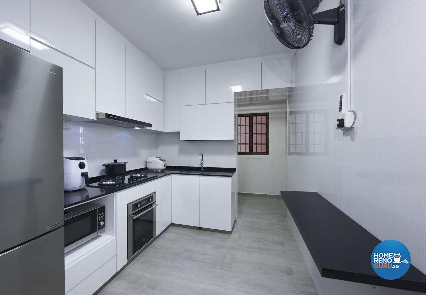 Contemporary, Modern Design - Kitchen - HDB 5 Room - Design by DC Vision Design Pte Ltd