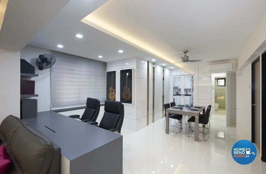 Contemporary, Modern Design - Dining Room - HDB 5 Room - Design by DC Vision Design Pte Ltd