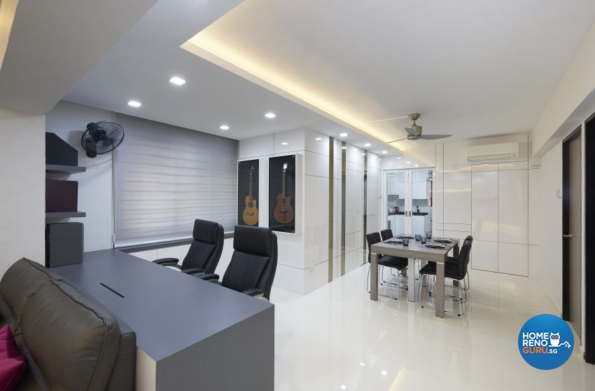 Contemporary, Modern Design - Dining Room - HDB 5 Room - Design by DC Vision Design Pte Ltd