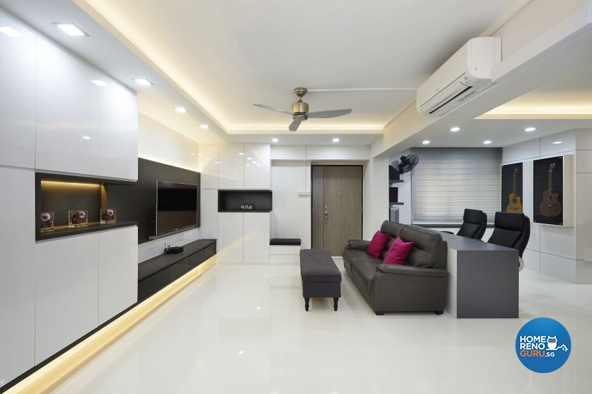 Contemporary, Modern Design - Living Room - HDB 5 Room - Design by DC Vision Design Pte Ltd