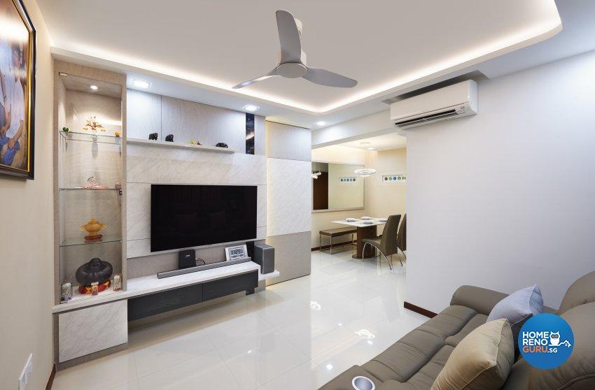 Modern, Others, Scandinavian Design - Living Room - HDB 4 Room - Design by DC Vision Design Pte Ltd