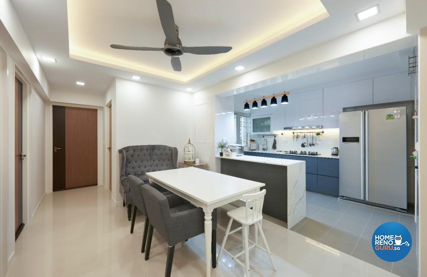 Minimalist, Scandinavian Design - Dining Room - HDB 4 Room - Design by DC Vision Design Pte Ltd