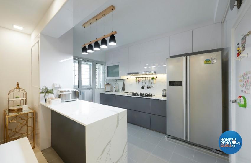 Minimalist, Scandinavian Design - Kitchen - HDB 4 Room - Design by DC Vision Design Pte Ltd