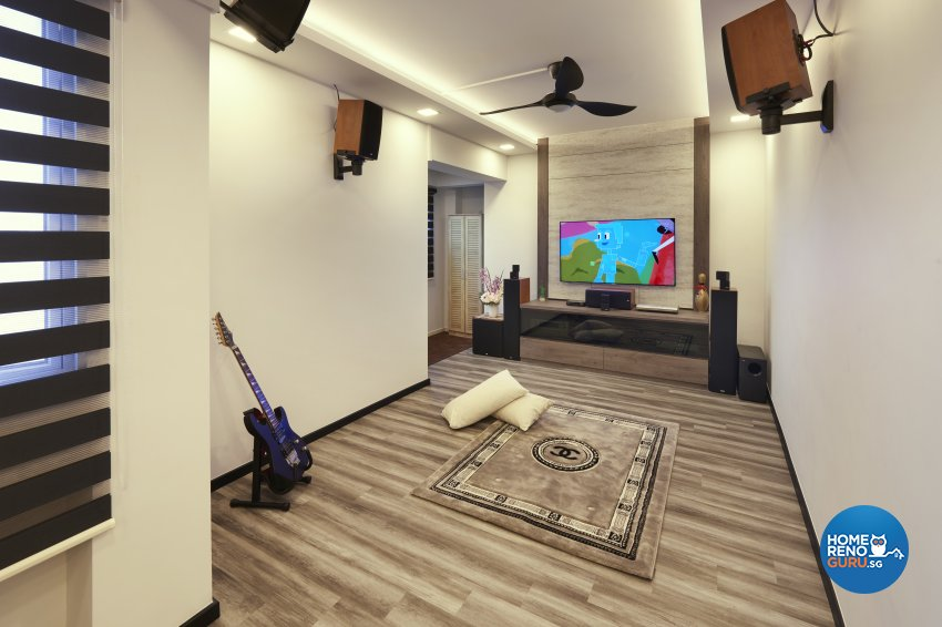 Classical, Eclectic, Vintage Design - Entertainment Room - HDB 4 Room - Design by DC Vision Design Pte Ltd