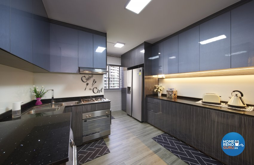 Classical, Eclectic, Vintage Design - Kitchen - HDB 4 Room - Design by DC Vision Design Pte Ltd