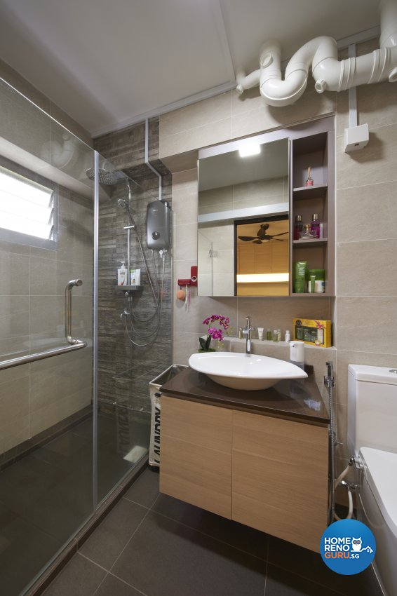 Classical, Eclectic, Vintage Design - Bathroom - HDB 4 Room - Design by DC Vision Design Pte Ltd