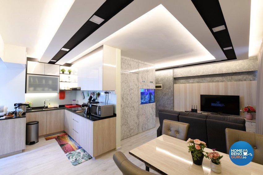 Modern Design - Living Room - HDB 4 Room - Design by De Exclusive Interior Group Pte Ltd