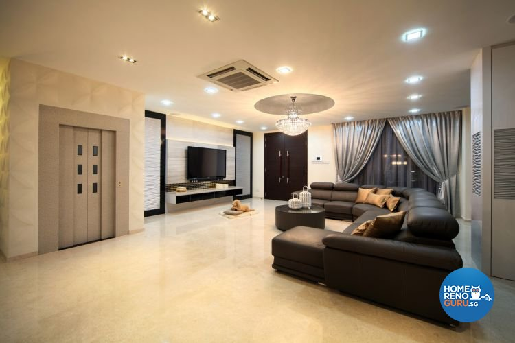 Contemporary, Modern Design - Living Room - Landed House - Design by De Exclusive Interior Group Pte Ltd