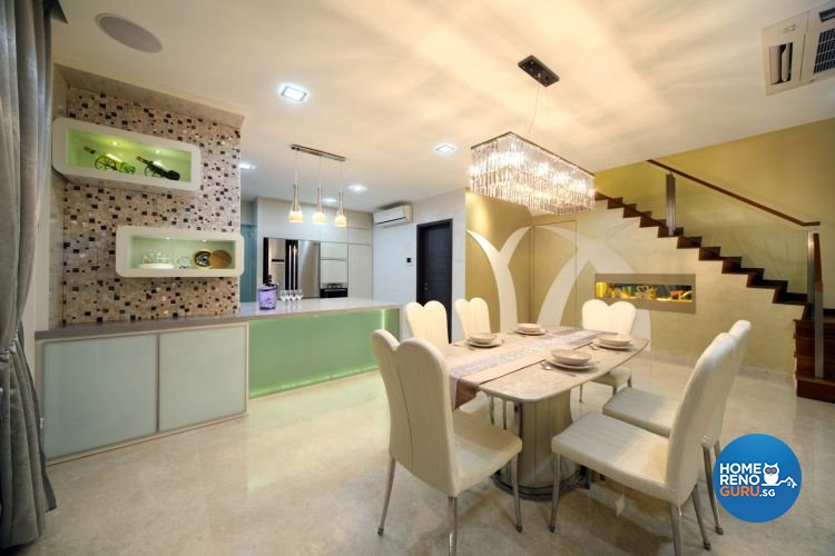 Contemporary, Modern Design - Dining Room - Landed House - Design by De Exclusive Interior Group Pte Ltd