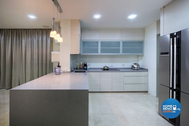Contemporary, Modern Design - Kitchen - Landed House - Design by De Exclusive Interior Group Pte Ltd